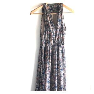 TL THE LETTER ANTHRO Floral Maxi Sleeveless Dress